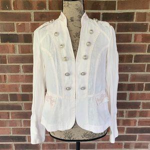 Like new INC 100% linen military style blazer